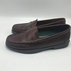 Vintage Sebago Brown Leather Loafers 8.5 D